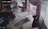 Cctv camera footage of car accident in china 14