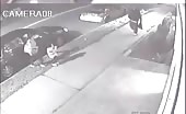 Cctv footage of woman stabbed during robbery