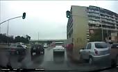 Girl jumps off a bridge