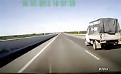 Highway car accident in russia