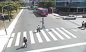 Kid riding on bike smashed by car 8