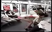 Asian girl changing clothes in train 12