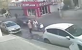 Cctv footage of a nasty car hit 8