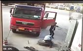 Man tossed into air by exploding tire 4