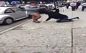 Dominicanwomens fighting on street 9