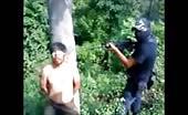 Mexican drug mafia executing prisoner 15