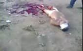 Man chopped brutally with axe while alive
