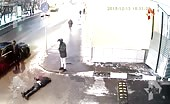 Speeding car kills a pedestrian in moscow 3