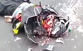 Skull crushed with helmet 14