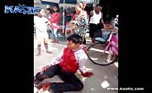 Scooter rider prays as he bleeds profusely from his throat 6