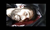 Shot dead by sniper of syrian army
