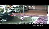 Asian man in car ran over his daughter 13
