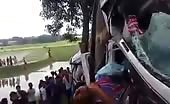 Car crashes with bus in bangladesh