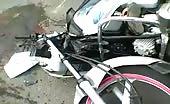 Brutal accident man dragged under truck
