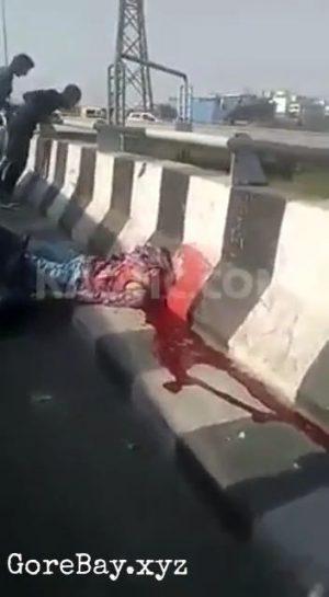 Biker decapitated, head stuck on railing