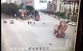 China - excavator accident 2