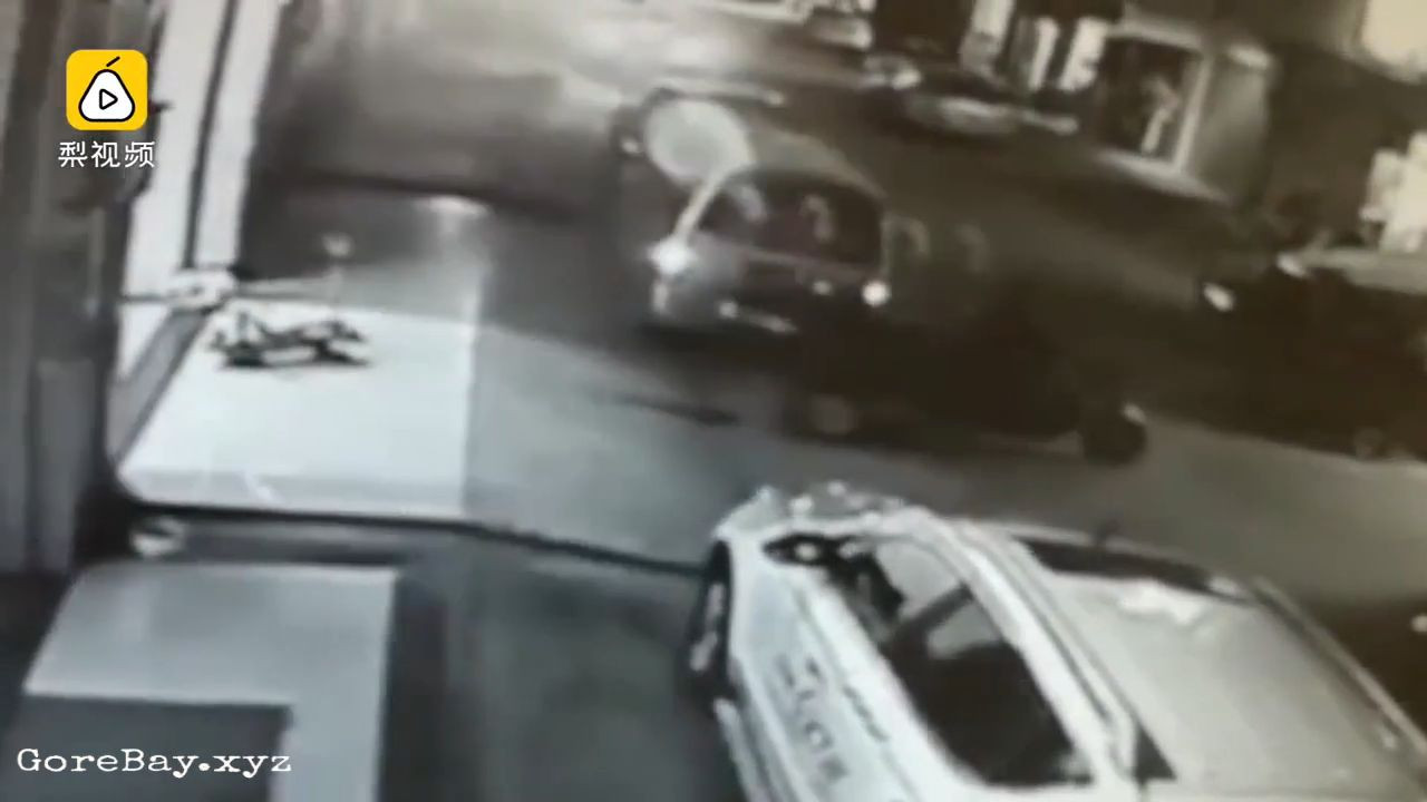 Kid got smashed by a reversing vehicle
