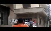 Short clip of massive shelling on syrian people 10