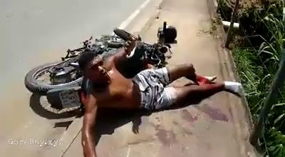 Brutal bike accident