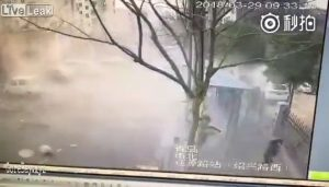 Gas leak explosion in China
