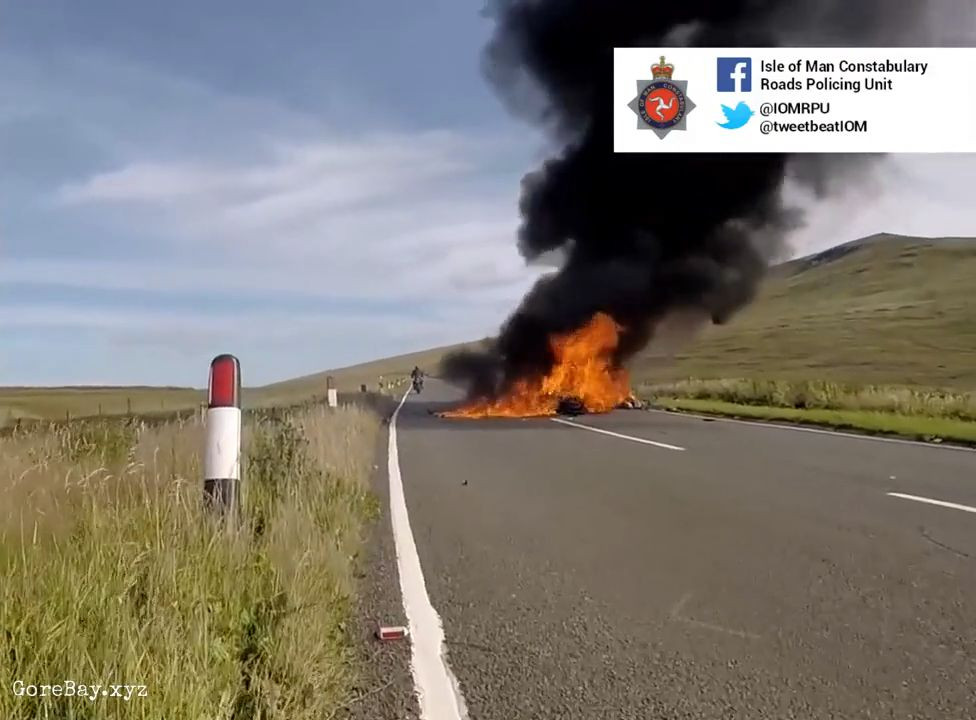 Two bikers collide, instantly explode 10