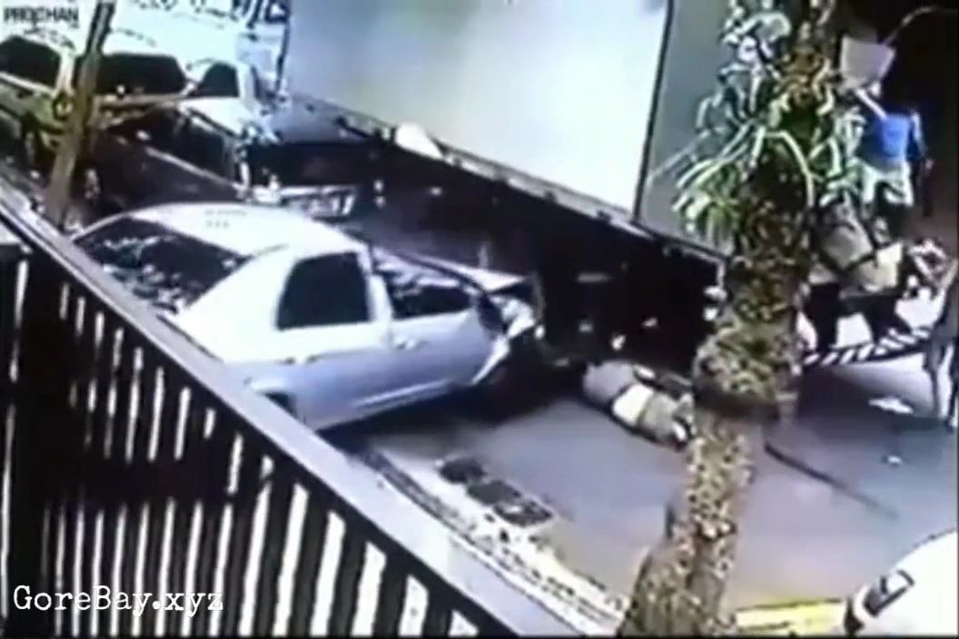 Worker crushed under a truck by a speeding car 8