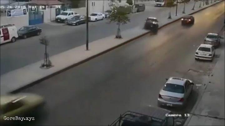 Taxi crashes into a speeding police car 13