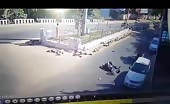 Terrible motorcycle accident in india 10