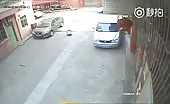 Young boy run over by a car 6