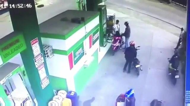 Biker shoots a guy close range 10