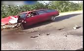 Violent motorcyclists and car crash in russia 9