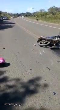 Biker dies in crash with a car 8