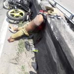 Motorcyclist splitted almost in half 3