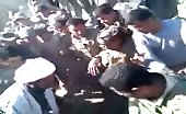 Public and militia tortures one of the civilians