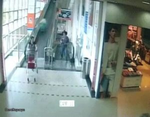 Woman killed by trolley moving down a travelator