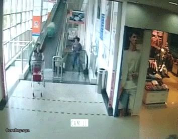 Woman killed by trolley moving down a travelator 10