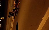 Motorcyclist couple hit with truck 8