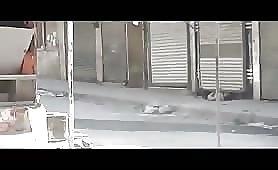 Sniper kills a citizen in the street, syria 5