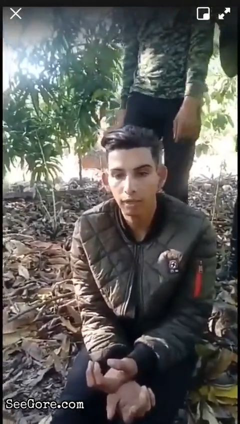 Young man was put between tree branches and get slaughtered 2