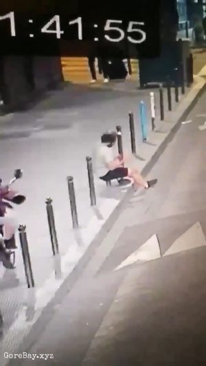 Man falls perfectly on a pole, impaling himself