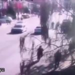Car crashes into a crowd of kids 2