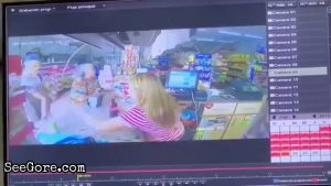 Female cashier is shot point blank