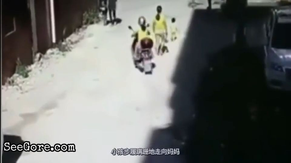 Forklift runs over a little kid 3