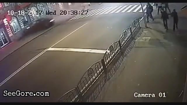 Ukrainian girl crashes her car into crowd 2