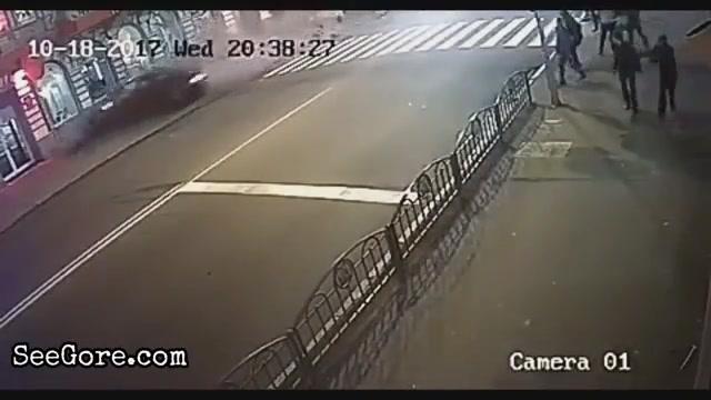 Ukrainian girl crashes her car into crowd 6