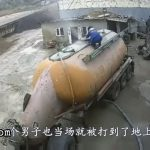 Pressurized tanker leaks and blows a man away 3