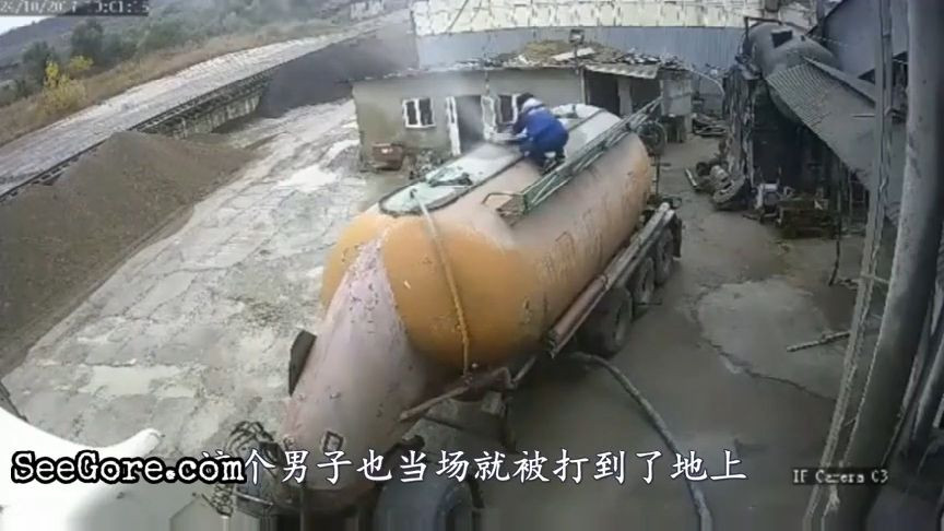 Pressurized tanker leaks and blows a man away 12