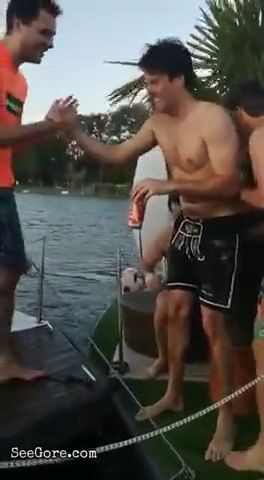 Guy gets a pole through his armpit