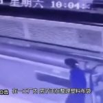 Factory machine sucks a worker when he tries to sort and feed plastic wrapper into the machine 5