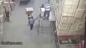 Worker falls head first